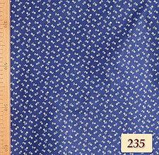Úžitkový textil - Bavlnené romantické posteľné návliečky (Modré s drobnými kvietkami) - 11117241_