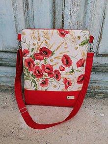 Veľké tašky - Kabelka s makmi - 11120467_
