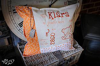 """Úžitkový textil - Vankúšik pre novorodenca """"Klára"""" - 11121578_"""