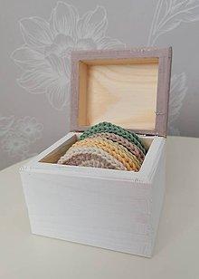 Úžitkový textil - Háčkované odličovacie tampóny v krabičke (staroružová) - 11120394_