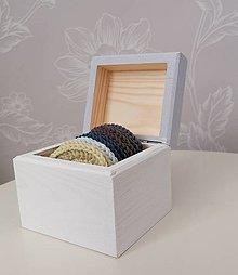 Úžitkový textil - Háčkované odličovacie tampóny v krabičke (holubičia šedá) - 11120472_