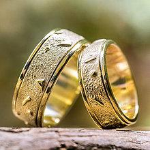 Prstene - Vesmírne obrúčky v zlate - 11120023_