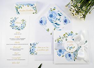 Papiernictvo - Svadobné oznámenie Adeline s mašľou - 11120604_