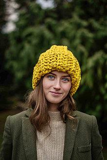 Čiapky - Chunky čiapka Katarina (Žltá) - 11119624_
