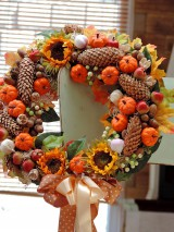 Jesenný veniec s tekvičkami