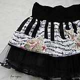 Sukne - Rocková hudobná mini suknička - 11119596_