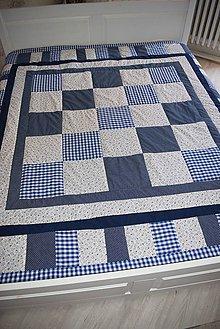 Úžitkový textil - PATCHWORKOVÝ PŘEHOZ 200x 200 cm - 11121120_