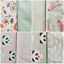 Textil - VLNIENKA Detské obliečky do postieľky na mieru  100% bavlna MINT FR mentolové - 11121225_