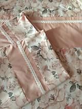 Úžitkový textil - Posteľné obliečky  púdrové  set 2+1 - 11119829_