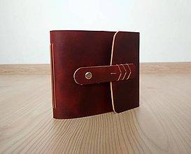 """Papiernictvo - Fotoalbum * album kožený ,,René"""" 16*13 cm- hladenica - 11120913_"""