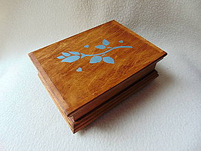Krabičky - Drevená kazetka Ružička - 11119886_