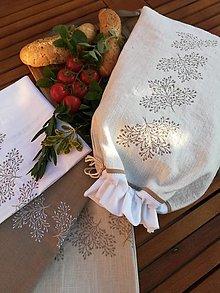 Úžitkový textil - Darčeková sada ľanových kuchynských doplnkov - 11121955_