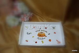 Nádoby - drevená tácka Fresh from the kitchen - 11120538_