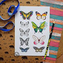 Drobnosti - Nálepky - Motýle - 11120771_