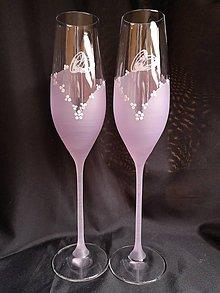 Nádoby - Svadobné poháre šampus vzor č. 81 - 11121712_