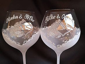 Nádoby - Svadobné poháre na vínko - 11121746_