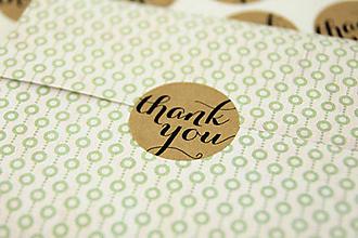Papier - Nálepka thank you (sada 12 ks) - 11119746_