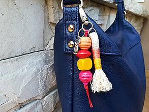 Kľúčenky - Prívesok na tašku alebo kľúče - líška - 11120869_