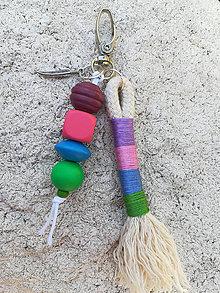 Kľúčenky - Prívesok na tašku alebo kľúče - Pierko - 11120921_