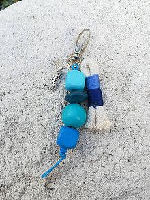 Kľúčenky - Prívesok na tašku alebo kľúče - Morský kiník - 11120988_