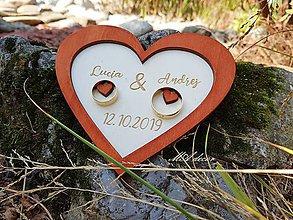 Darčeky pre svadobčanov - Tanierik na obrúčky - 11120033_