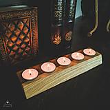 Svietidlá a sviečky - Drevený svietnik - Cinque - 11121846_
