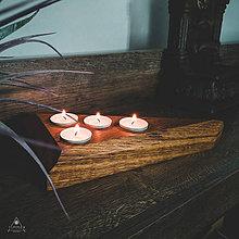 Svietidlá a sviečky - Drevený svietnik - Kolmio - 11121888_