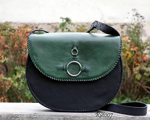 Ručně šitá kožená kabelka Emerald