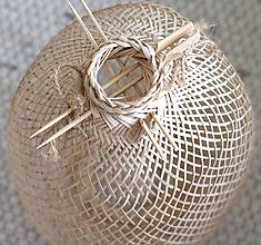 Svietidlá a sviečky - Tienidlo z bambusu 1. - 11122375_
