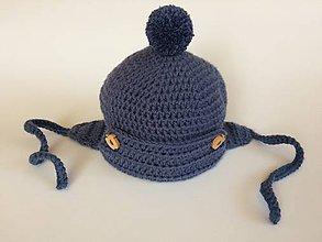Detské čiapky - Čiapočka s klapkami na uška - 11122383_