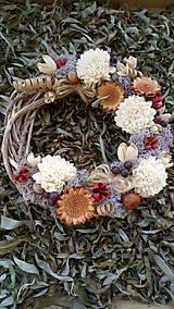Dekorácie - Jesenný veniec - 11121238_