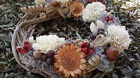 Dekorácie - Jesenný veniec - 11121240_