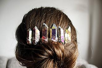 Ozdoby do vlasov - Dúhový hrebienok - 11119968_