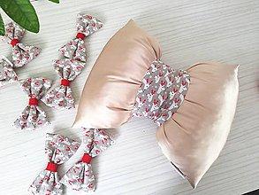 Úžitkový textil - Vankúš mašľa - 11121035_