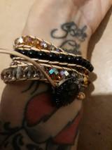 Náramky - BRYXI zlatá-čierna - 11122329_
