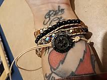 Náramky - BRYXI zlatá-čierna - 11122332_