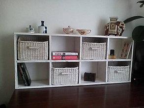 Nábytok - Polička na pracovný stôl s obrúseným efektom - 11120003_