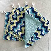 Úžitkový textil - Kuchynské handričky - prateľné (Modrá) - 11119667_
