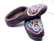 Obuv - Vlnené plstené papuče - 11120273_
