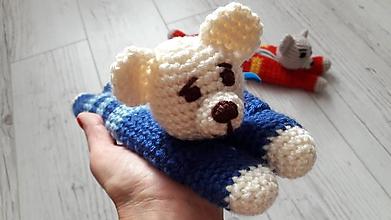 Detské doplnky - peračník (modro/modrý chlapčenský) - 11121488_