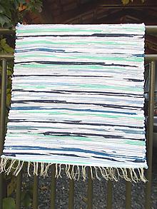 Úžitkový textil - bielo modrý melír - 11122602_