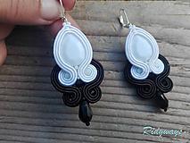 Náušnice - White&Black...soutache - 11123791_