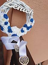Dekorácie - Venček s nápisom ženích - 11124421_