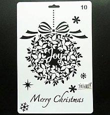 Pomôcky/Nástroje - Šablóna - 26x17 cm - Vianoce, vianočná guľa (10) - 11124837_