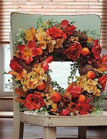 Dekorácie - Jesenný veniec na dvere - 11124576_