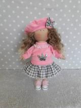 Bábiky - Ružovo-šedá bábika - 11125714_