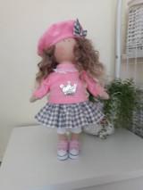 Bábiky - Ružovo-šedá bábika - 11125719_