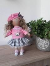 Bábiky - Ružovo-šedá bábika - 11125721_