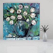 Obrazy - Zátišie s tulipánmi - 11125240_