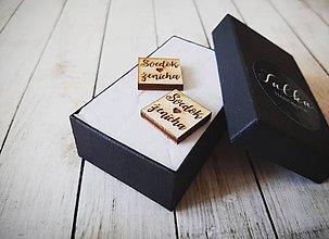 Šperky - Drevené manžetové gombíky - 11125653_